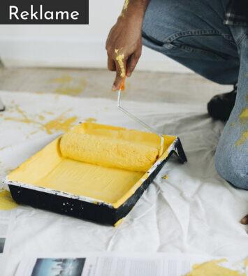 Maling i malerbøtte